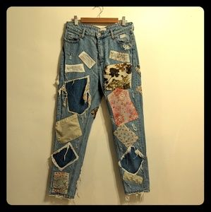 Zara patched jeans